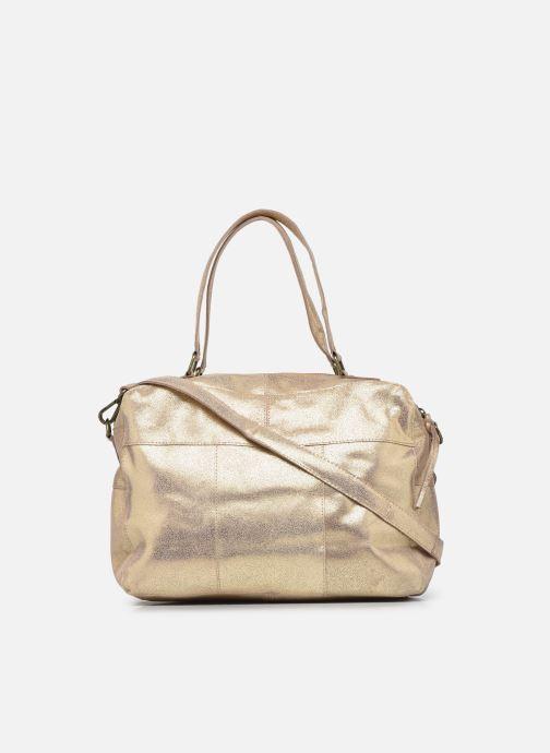 Handtaschen Pieces ANDREA LEATHER DAILY BAG FC gold/bronze ansicht von vorne