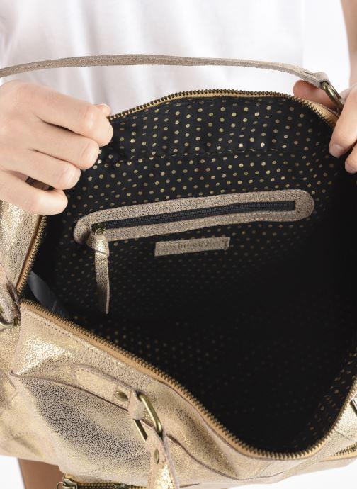 Handtaschen Pieces ANDREA LEATHER DAILY BAG FC gold/bronze ansicht von hinten