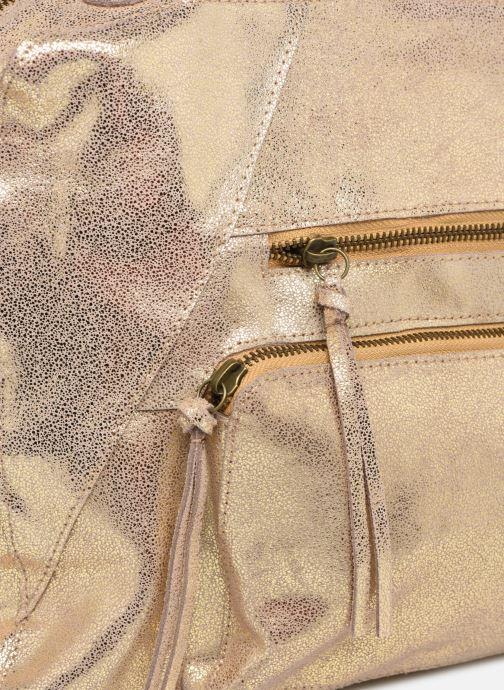 Handtaschen Pieces ANDREA LEATHER DAILY BAG FC gold/bronze ansicht von links