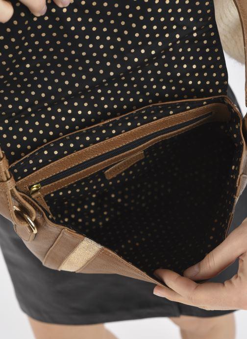 Handtaschen Pieces GEMMA LEATHER CROSS BODY FC braun ansicht von hinten