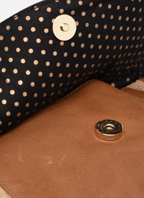 Handtaschen Pieces GEMMA LEATHER CROSS BODY FC braun ansicht von links