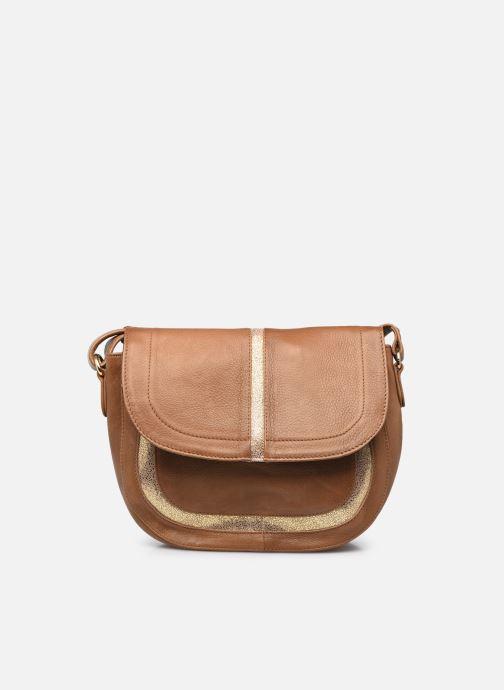 Handtaschen Pieces GEMMA LEATHER CROSS BODY FC braun detaillierte ansicht/modell