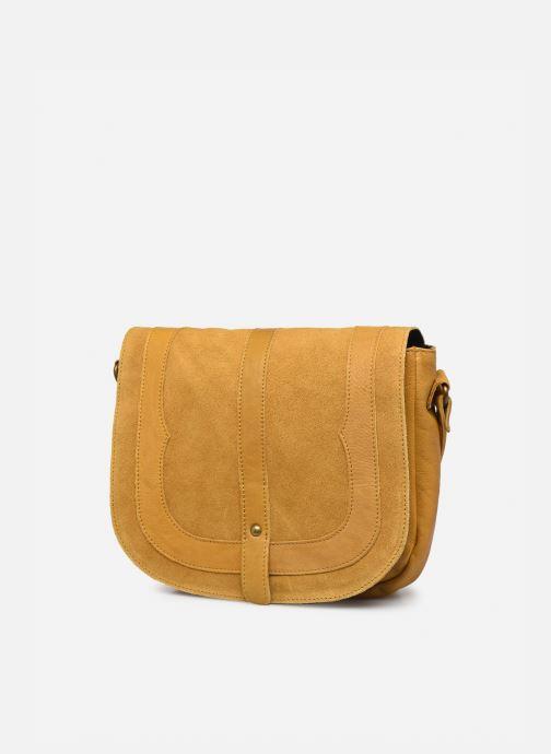 Handtaschen Pieces DILARA LEATHER CROSS BODY FC gelb schuhe getragen
