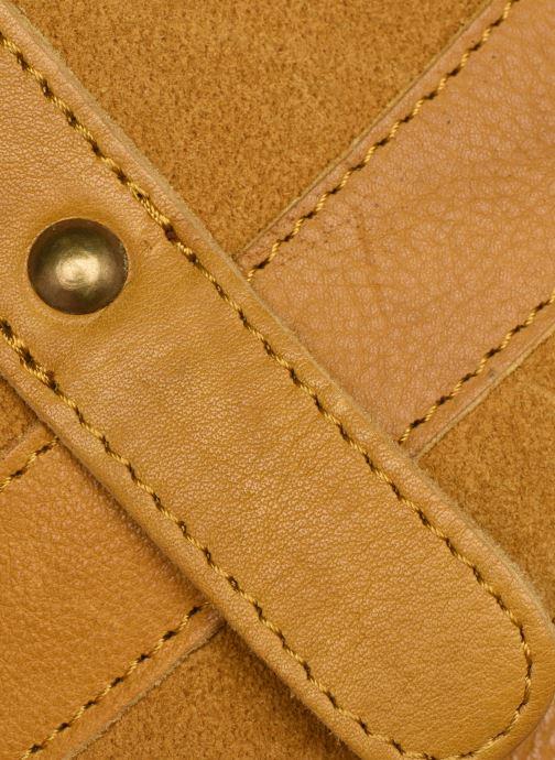 Handtaschen Pieces DILARA LEATHER CROSS BODY FC gelb ansicht von links