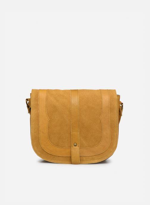 Handtaschen Pieces DILARA LEATHER CROSS BODY FC gelb detaillierte ansicht/modell