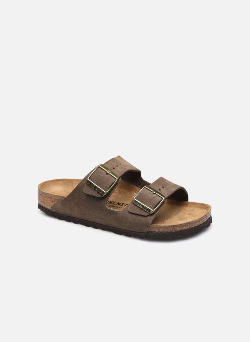 Sandales et nu-pieds Birkenstock Arizona Cuir Suede W Gris vue détail/paire