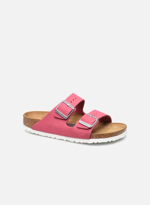 Sandalen Birkenstock Arizona Cuir Nubuck Soft Footbed W rosa detaillierte ansicht/modell