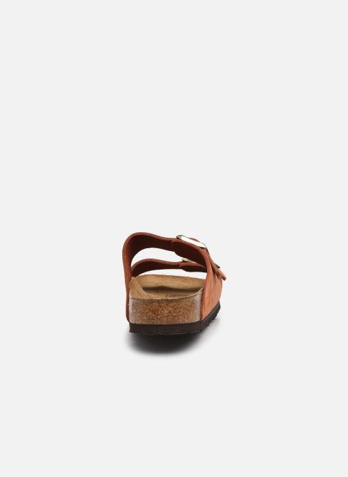 Sandalen Birkenstock Arizona Cuir Nubuck Soft Footbed W orange ansicht von rechts