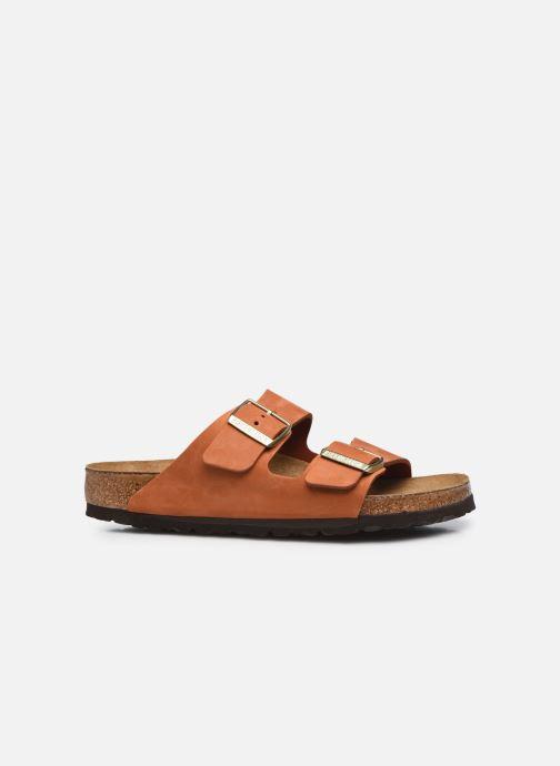 Sandalen Birkenstock Arizona Cuir Nubuck Soft Footbed W orange ansicht von hinten