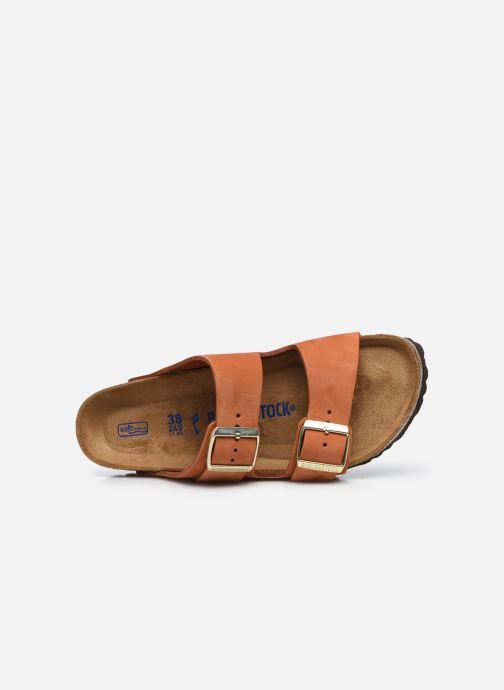 Sandalen Birkenstock Arizona Cuir Nubuck Soft Footbed W orange ansicht von links