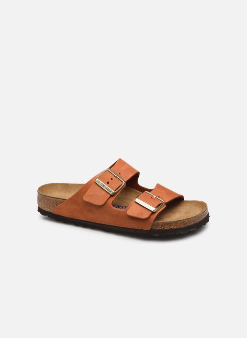 Sandales et nu-pieds Birkenstock Arizona Cuir Nubuck Soft Footbed W Orange vue détail/paire