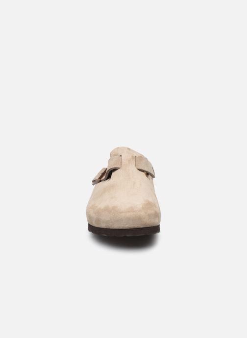 Pantoffels Birkenstock Boston Cuir Suede W Bruin model