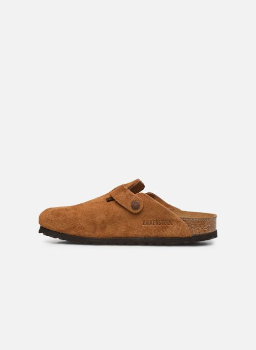 Pantofole Birkenstock Boston Cuir Suede W Marrone immagine frontale