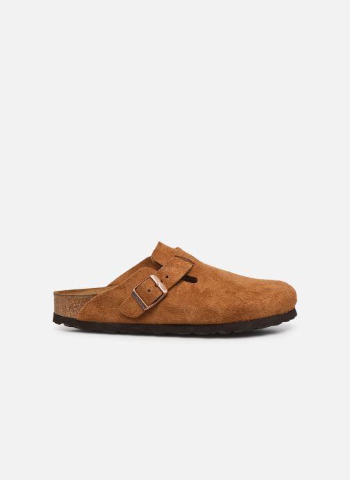 Pantofole Birkenstock Boston Cuir Suede W Marrone immagine posteriore