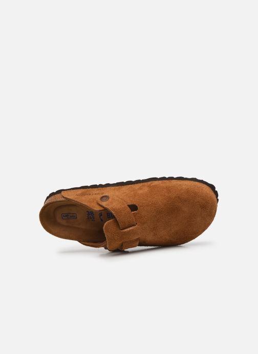 Pantofole Birkenstock Boston Cuir Suede W Marrone immagine sinistra