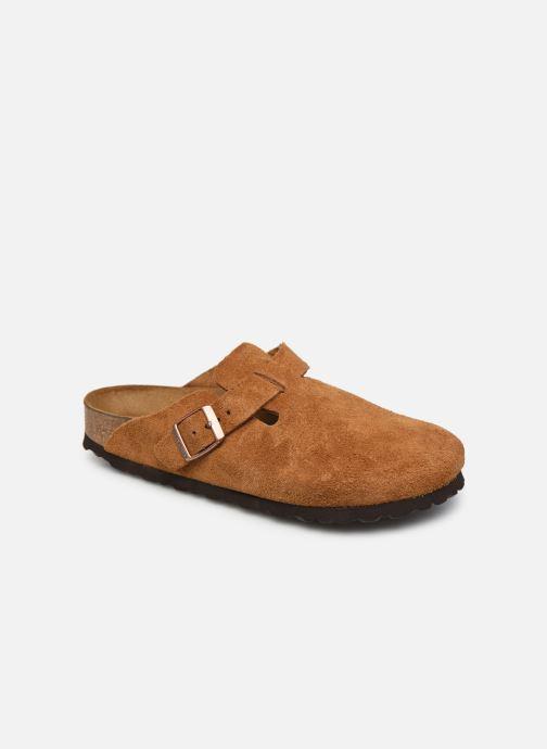 Pantofole Birkenstock Boston Cuir Suede W Marrone vedi dettaglio/paio