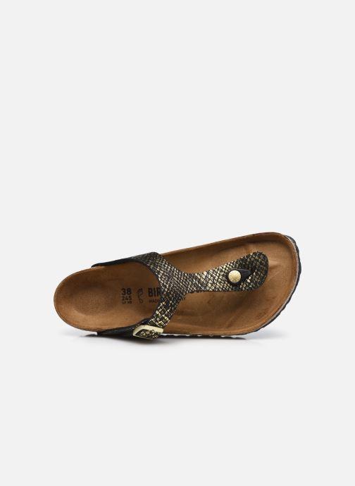Sandalen Birkenstock Gizeh Micro Fibre W gold/bronze ansicht von links