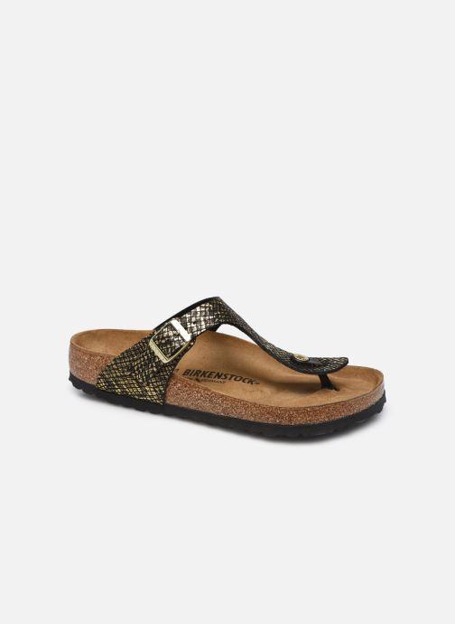 Sandales et nu-pieds Birkenstock Gizeh Micro Fibre W Or et bronze vue détail/paire