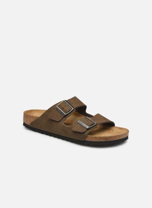 Sandales et nu-pieds Birkenstock Arizona Micro Fibre M Marron vue détail/paire