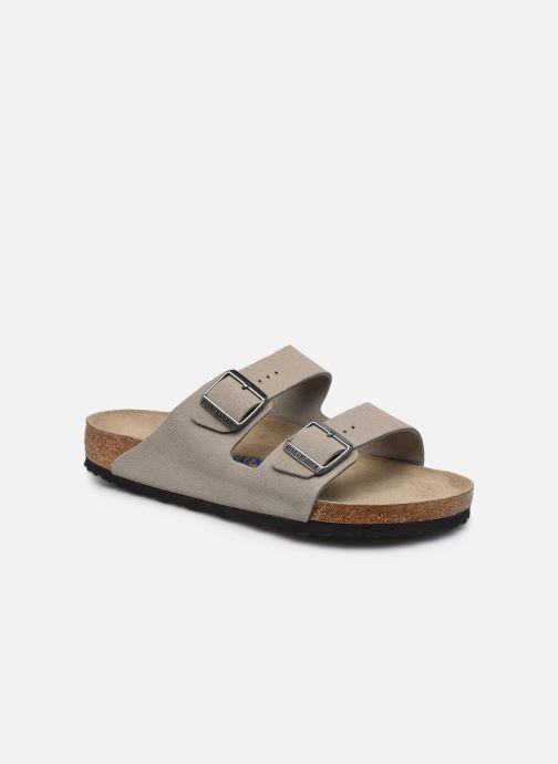 Sandales et nu-pieds Birkenstock Arizona  SFB Cuir Suede Gris vue détail/paire