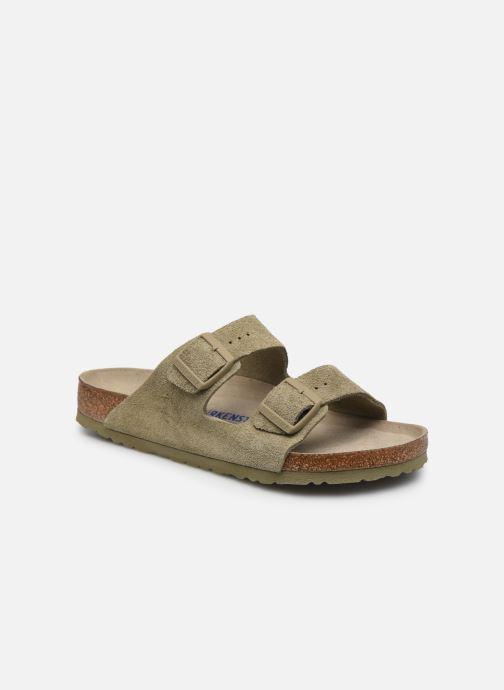 Sandales et nu-pieds Birkenstock Arizona  SFB Cuir Suede Vert vue détail/paire