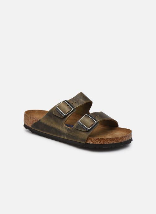 Sandales et nu-pieds Birkenstock Arizona  SFB Cuir Gras Vert vue détail/paire