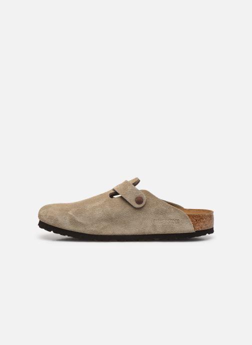 Pantofole Birkenstock Boston Cuir Suede M Beige immagine frontale