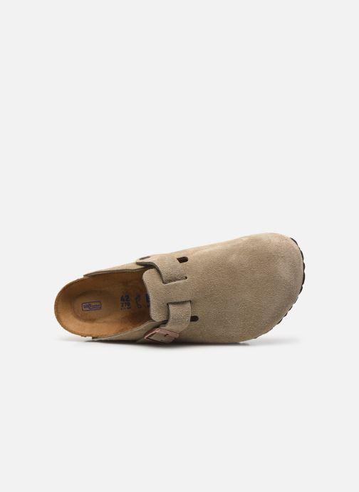 Pantofole Birkenstock Boston Cuir Suede M Beige immagine sinistra