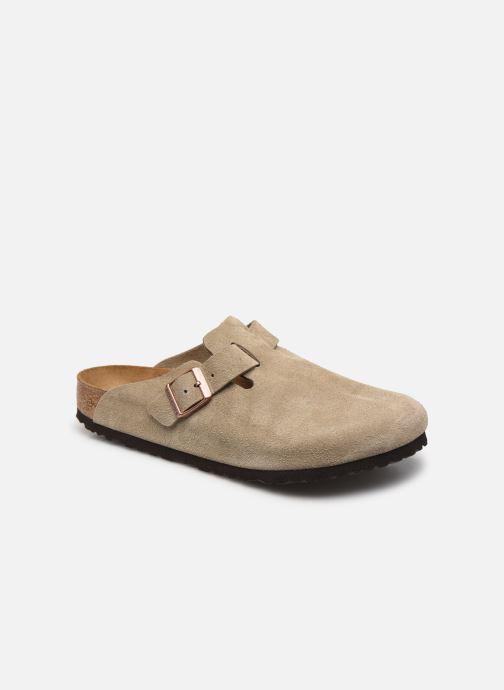 Pantoffels Birkenstock Boston Cuir Suede M Beige detail