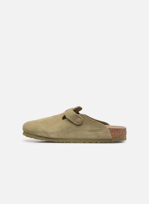 Pantofole Birkenstock Boston Cuir Suede M Verde immagine frontale