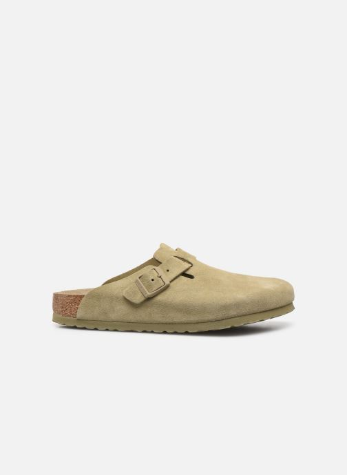 Pantofole Birkenstock Boston Cuir Suede M Verde immagine posteriore