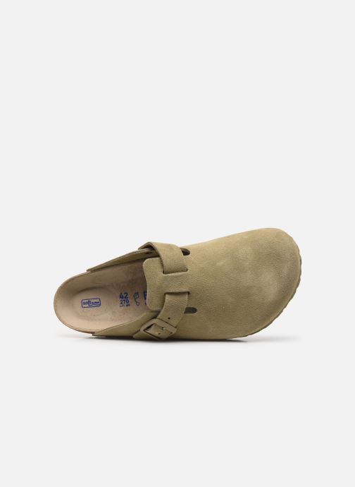 Pantofole Birkenstock Boston Cuir Suede M Verde immagine sinistra