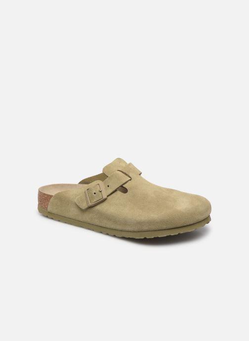 Pantofole Birkenstock Boston Cuir Suede M Verde vedi dettaglio/paio