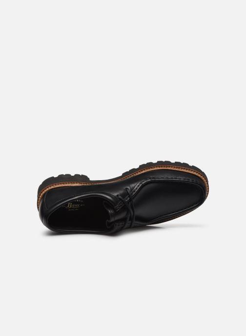 Veterschoenen G.H. Bass Wallace WMN Two-Eye Tie Shoe Zwart links