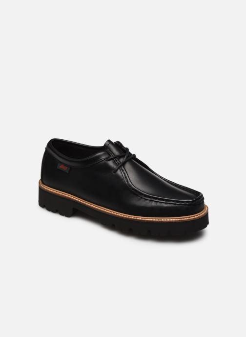 Chaussures à lacets G.H. Bass Wallace WMN Two-Eye Tie Shoe Noir vue détail/paire