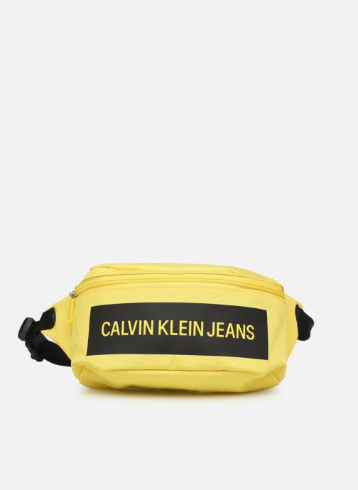 Kleine lederwaren Calvin Klein WAISTBAG INST Geel detail