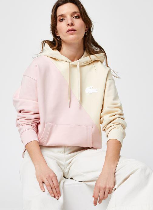Kleding Accessoires Sweatshirt à capuche Lacoste LIVE loose fit
