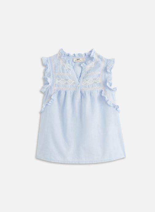 Vêtements Cyrillus Top sans manche dentelle Bleu vue détail/paire
