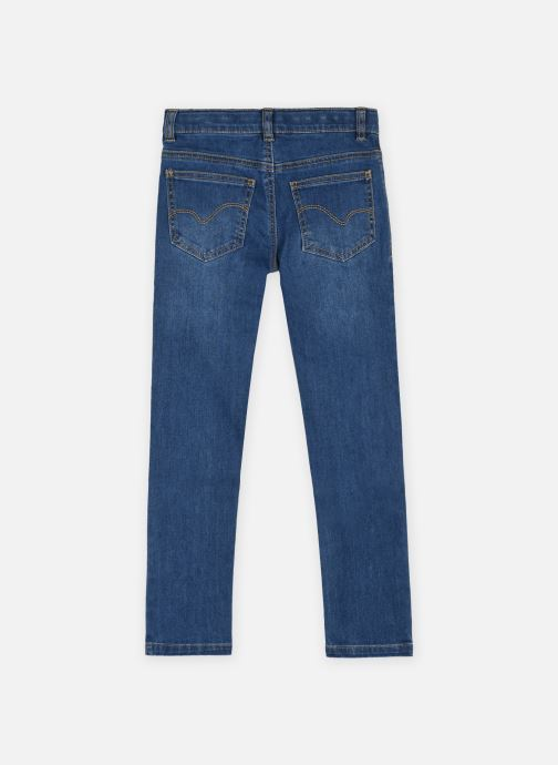 Vêtements Cyrillus Jean slim denim Bleu vue portées chaussures