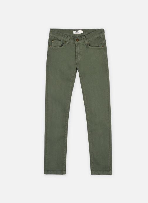 Vêtements Cyrillus Pantalon 5 poches twill couleu Vert vue détail/paire