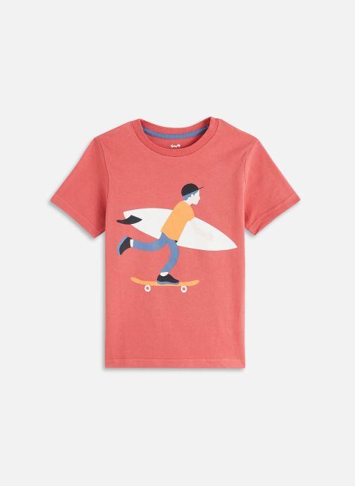 Vêtements Cyrillus Tee shirt MC print multico Rouge vue détail/paire