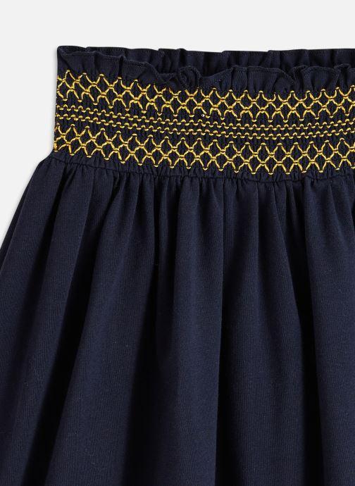Vêtements Cyrillus Jupe maille smock Bleu vue portées chaussures