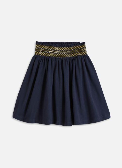 Vêtements Cyrillus Jupe maille smock Bleu vue détail/paire