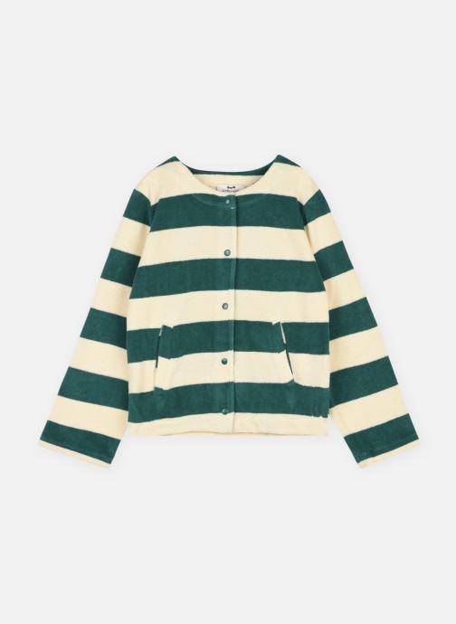 Vêtements Cyrillus Gilet bouclette Vert vue détail/paire