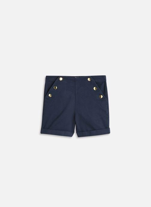 Vêtements Cyrillus Short satin Bleu vue détail/paire