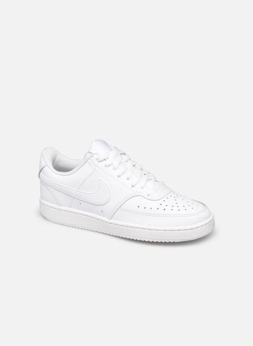 Deportivas Nike WMNS NIKE COURT VISION LOW Blanco vista de detalle / par