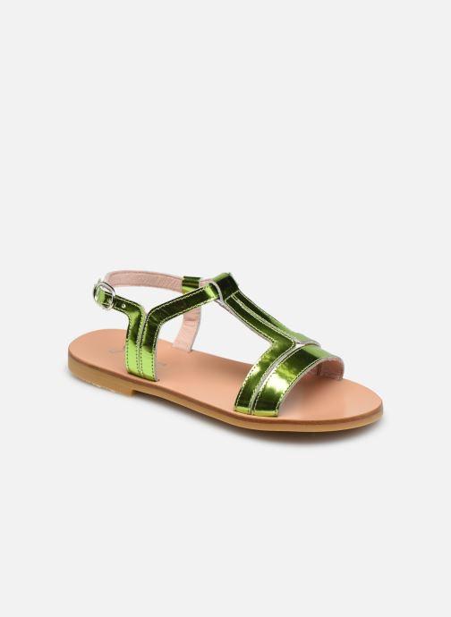 Sandales et nu-pieds Jacadi Delice Irise Vert vue détail/paire
