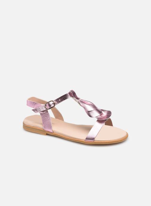 Sandales et nu-pieds Jacadi Delphina Irisee Rose vue détail/paire