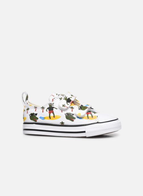 Sneakers Converse Chuck Taylor All Star 2V Croco Surf Ox Wit achterkant