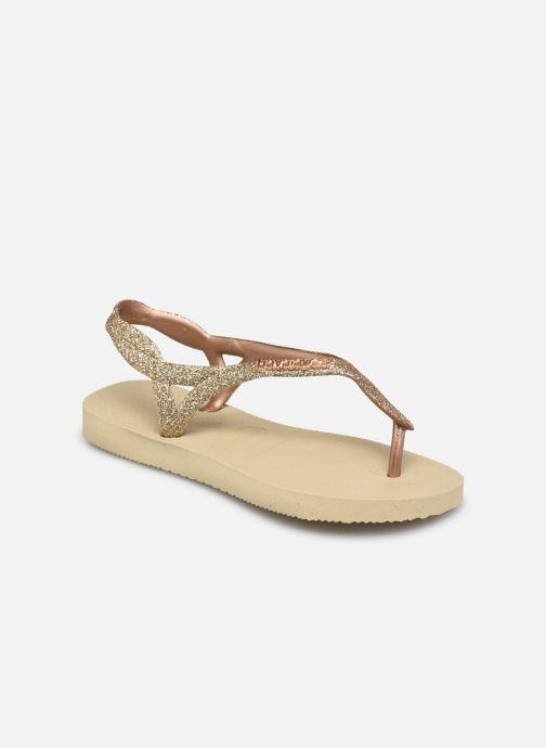 Sandales et nu-pieds Havaianas Havaianas Luna Kids Premium II Or et bronze vue détail/paire